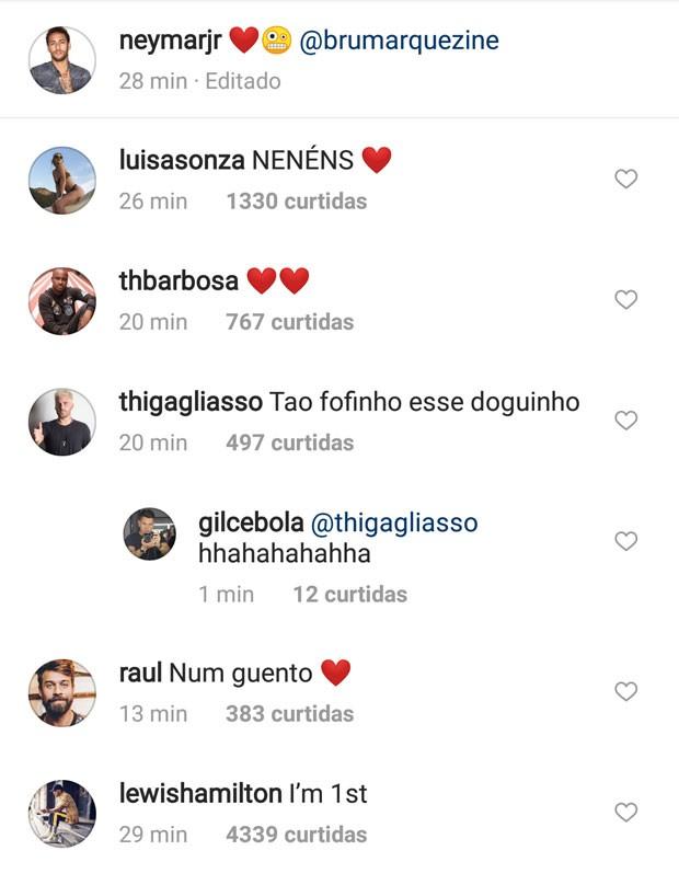 Famosos comentam post de Neymar  (Foto: Reprodução)