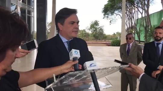 Presidente interino do Senado, Cunha Lima visita STF para 'desmistificar' crise
