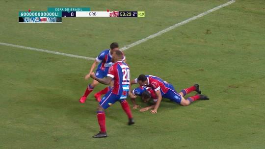 O gol de Bahia 1 x 0 CRB pela terceira fase da Copa do Brasil