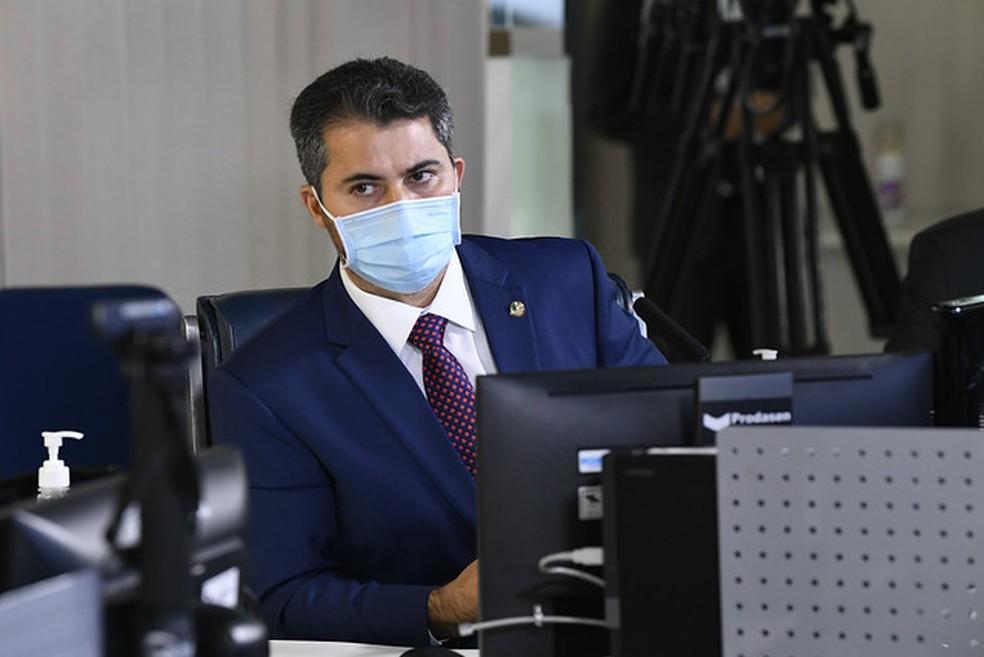 Senador Marcos Rogério (DEM-RO) — Foto: Jefferson Rudy/Agência Senado