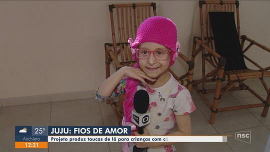 Projeto produz toucas para crianças com câncer na Grande Florianópolis