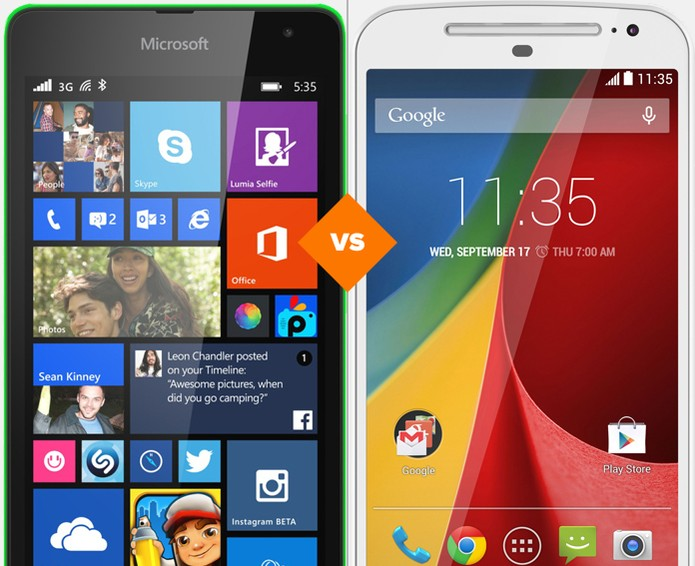 Lumia 535 ou Moto G: confira o comparativo de celular da semana (Foto: Arte/TechTudo)
