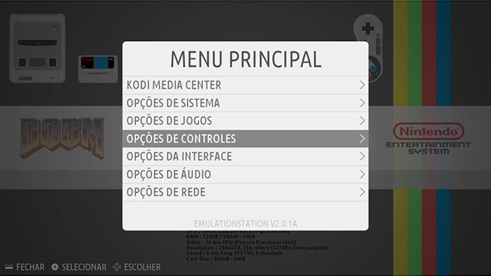 Com um teclado conectado, realize procedimentos de configuração, como definição de controles para os jogos e acesso à rede — Foto: Reprodução/Filipe Garrett