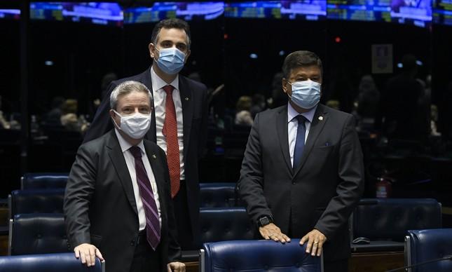 Antonio Anastasia, Rodrigo Pacheco e Carlos Viana