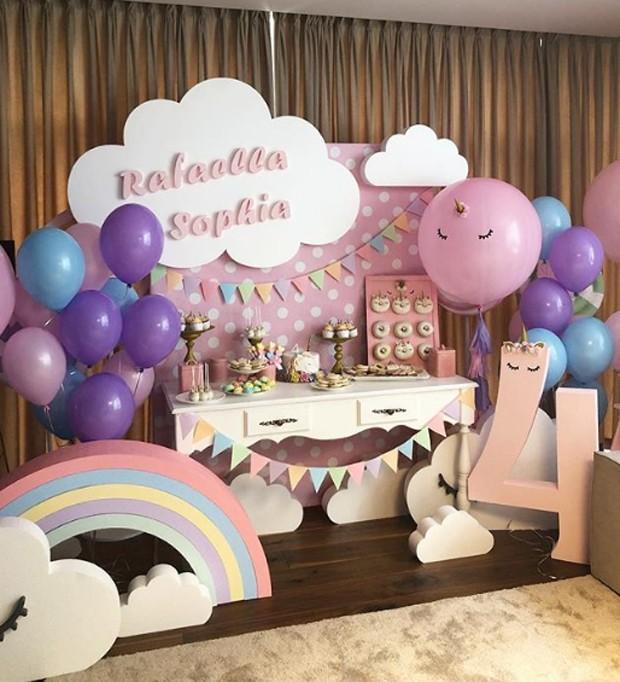 Decoração da festa das filhas de Dentinho e Dani Souza (Foto: Reprodução / Instagram)