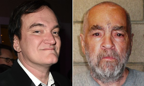 O cineasta Quentin Tarantino e o assassino Charles Manson (Foto: Getty Images)