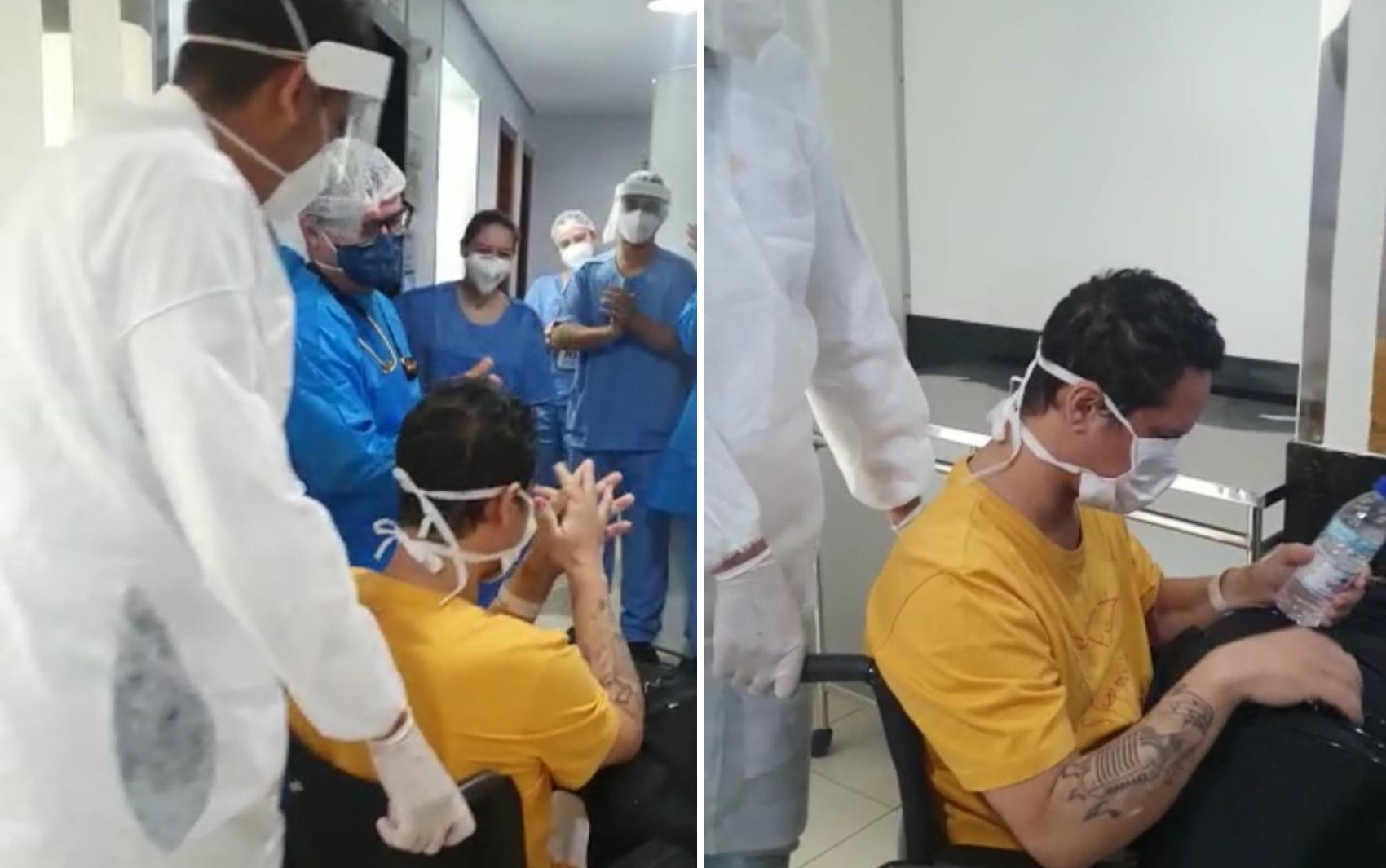 Paciente compõe música em homenagem a profissionais da saúde após vencer a Covid-19, em Goiânia: 'Anjos'