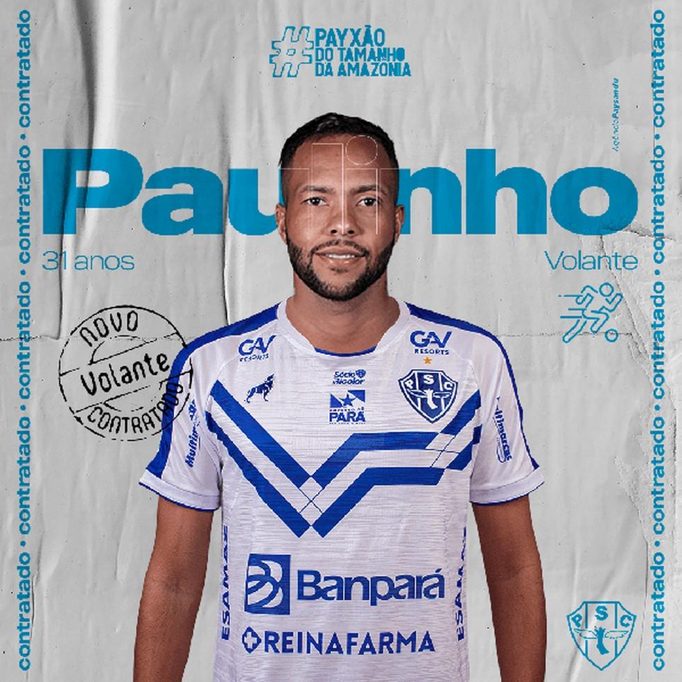 Paulinho chega para a segunda passagem no Paysandu — Foto: Agência Paysandu