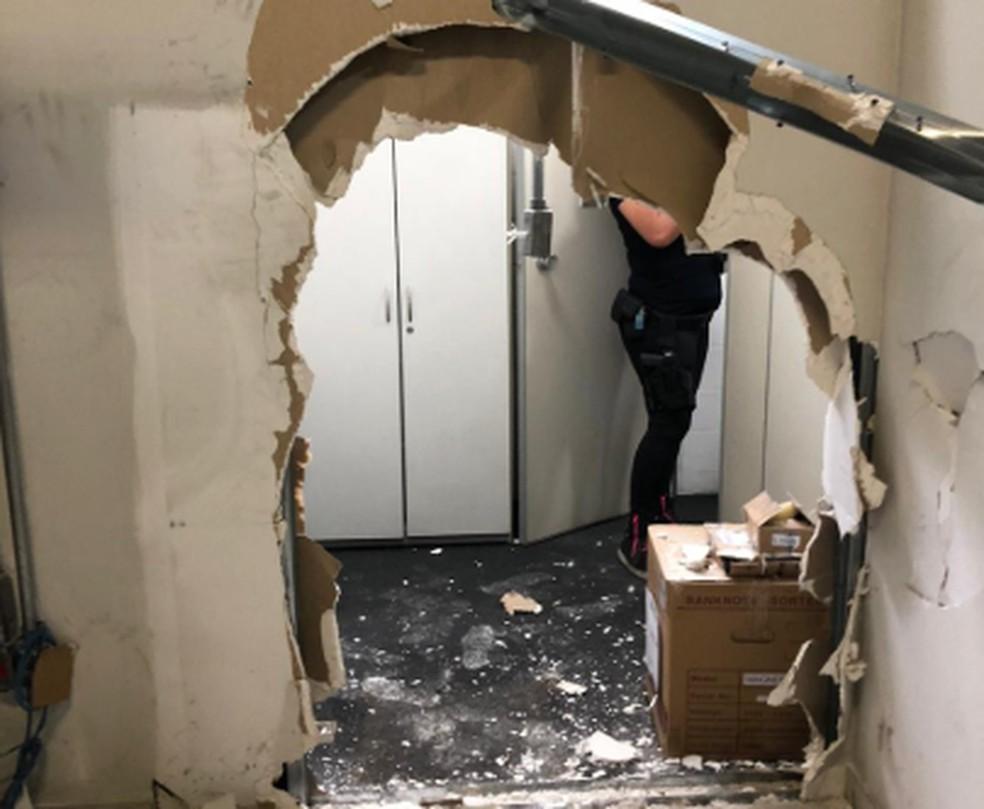 Grupo de bandidos invadiu, neste domingo (6), a sede da TV Cultura, na Barra Funda, Zona Oeste da cidade de São Paulo — Foto: Divulgação/Polícia Civil