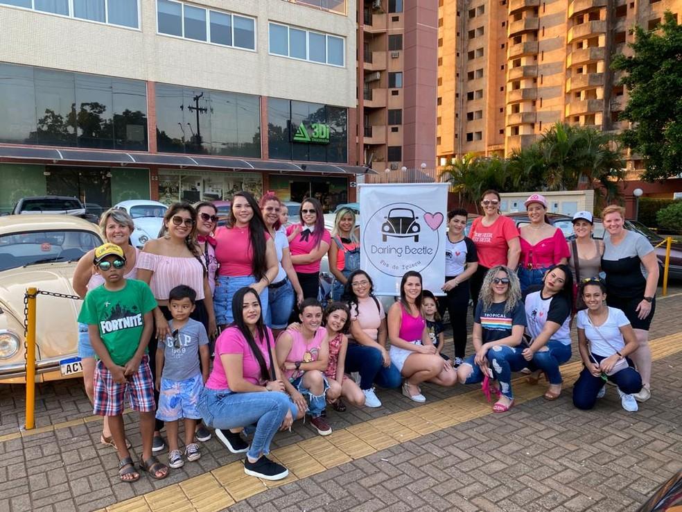 Antes da pandemia, o clube promovia encontros entre as integrantes, em Foz do Iguaçu — Foto: Darling Beetle Foz/Divulgação