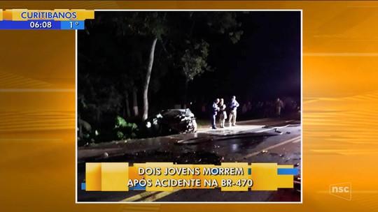 Dois jovens e homem de 51 anos morrem em acidentes na BR-470, no Vale do Itajaí