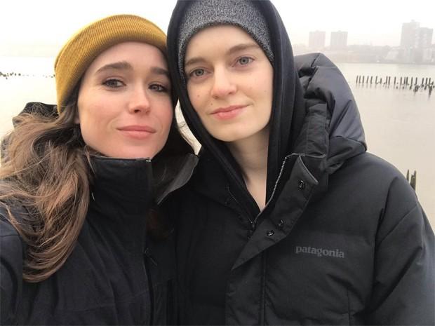 Ellen Page e a mulher, Emma Portner (Foto: Reprodução / Instagram)