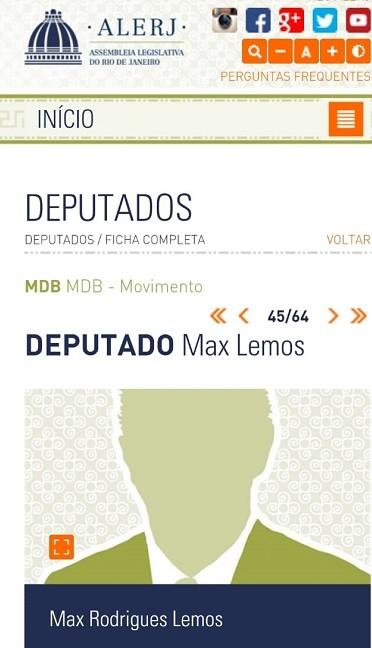 perfil do deputado e Max Lemos