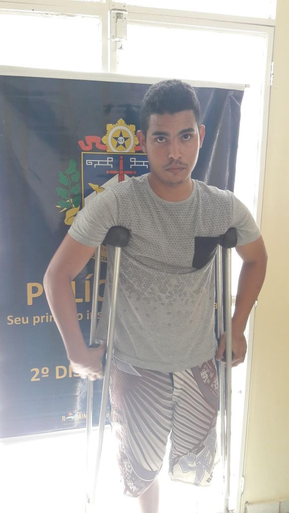 'Piloto de fuga' de uma perna só é preso por envolvimento em roubo a padaria em Boa Vista