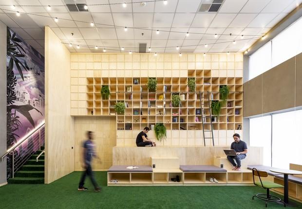Projeto do Serasa DataLab, parte do portfólio da designer de interiores Melina Romano (Foto: Ricardo Bassetti)