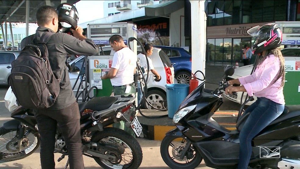 Mais de 80% dos postos de combustível de São Luís estão secos, segundo Sindcombustíveis (Foto: Reprodução/TV Mirante)