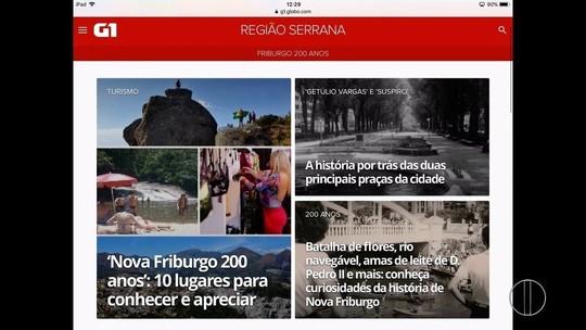 Nova Friburgo ganha página no G1 em comemoração aos 200 anos