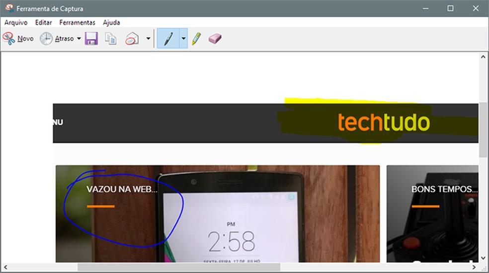 Ferramenta de captura de tela será aprimorada no Windows 10 October 2018 — Foto: Reprodução/Paulo Alves