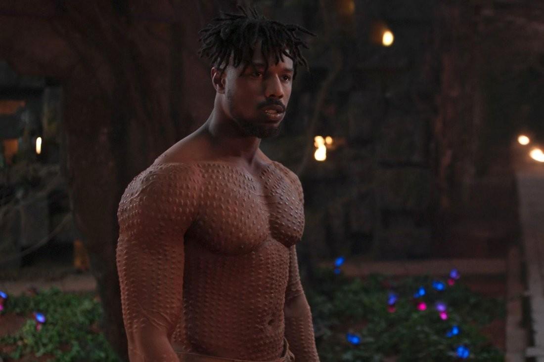 O ator Michael B. Jordan em cena de Pantera Negra (Foto: Reprodução)