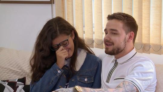 Liam Payne conhece fã brasileira, canta sucessos e internet vibra com alegria da avó da adolescente
