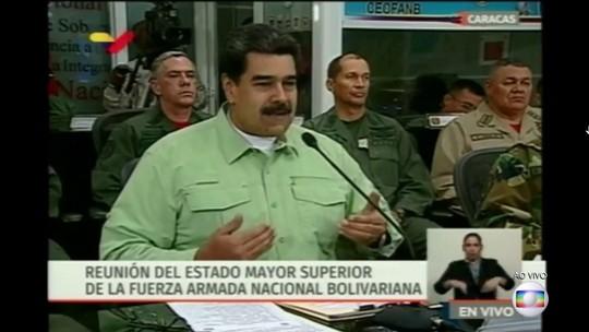 Maduro anuncia que o governo vai fechar a fronteira da Venezuela com Brasil