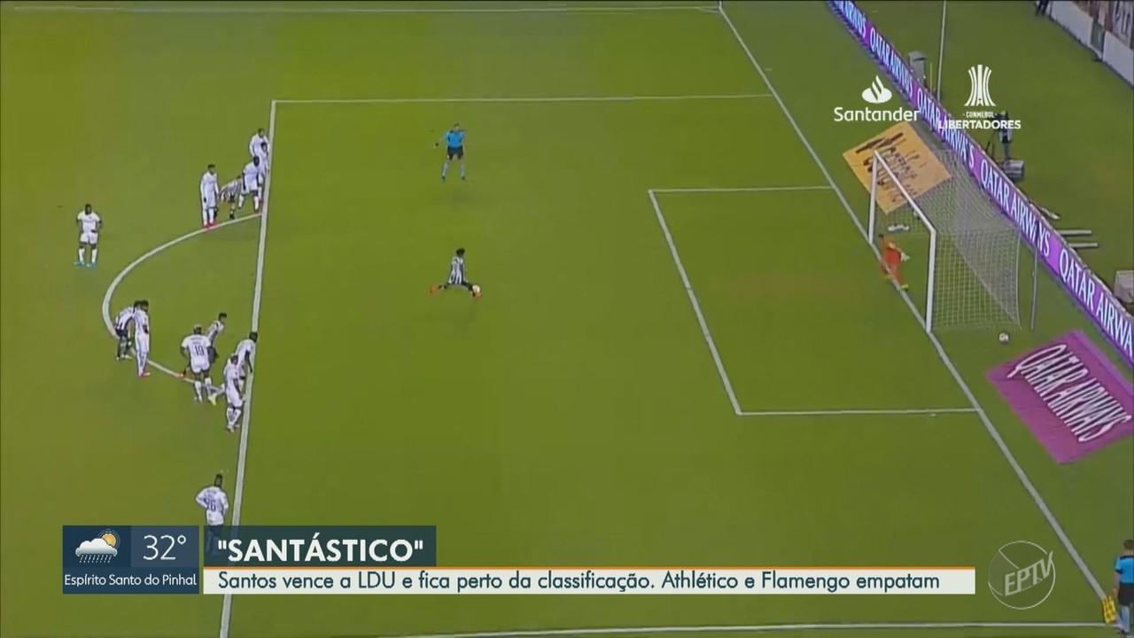 Brasileiros se dão bem no jogo de ida das oitavas de final da Libertadores; veja os gols