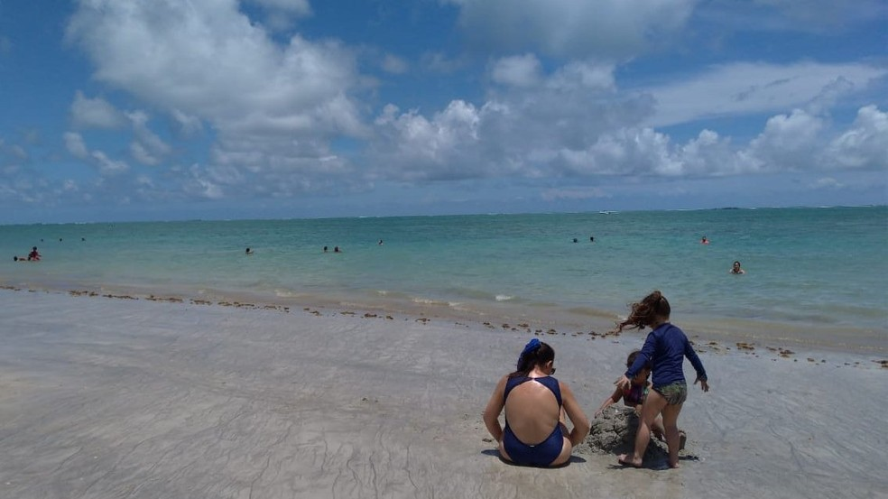 Praia de Formosa, em Cabedelo, na Grande João Pessoa — Foto: Krys Carneiro/G1