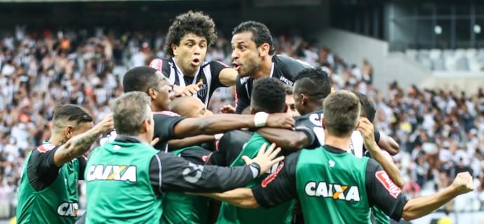 Jogadores do Atlético-MG comemoram gol (Foto: Bruno Cantini / Atlético-MG)
