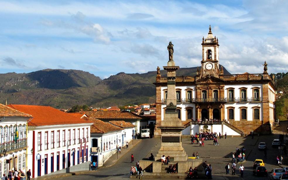 Museu da Inconfidência, no centro histórico de Ouro Preto, está entre os prédios sem projetos de segurança aprovados pelos bombeiros. — Foto: Francisco Jenna - Setic/ Prefeitura de Ouro Preto