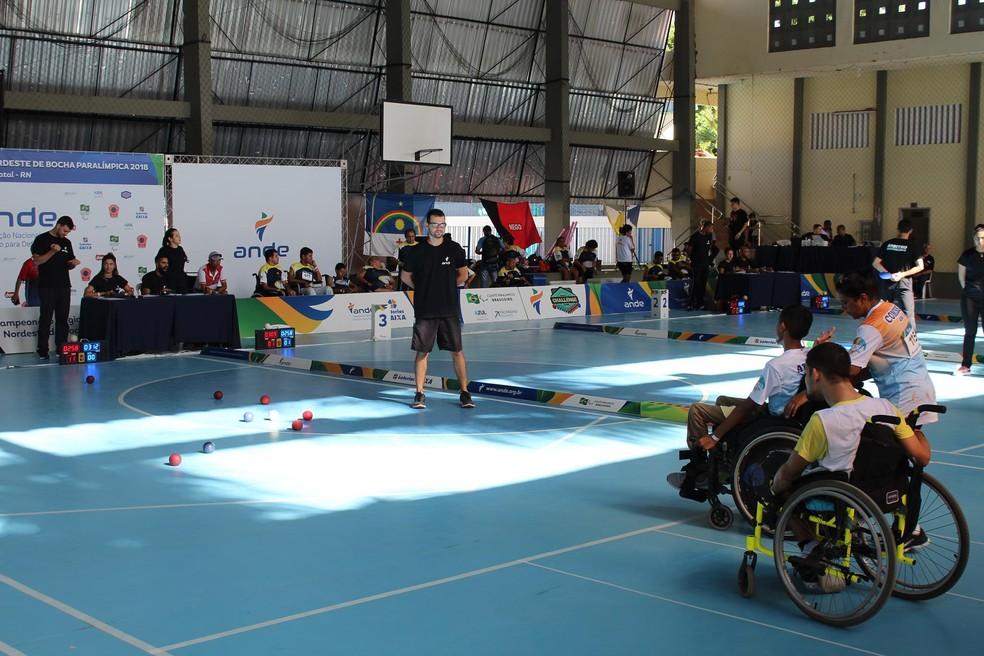Natal recebe Campeonato Regional de Bocha Paralímpica (Foto: Kelvin Oliveira/Ideia Comunicação)