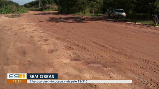 Moradores pedem início da pavimentação da ES-315, no ES
