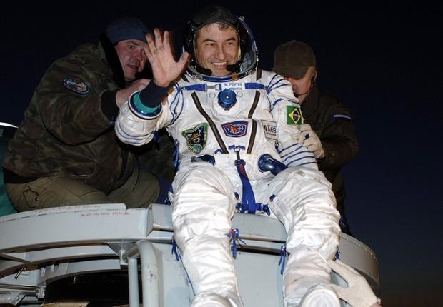 Marcos Pontes foi o primeiro astronauta brasileiro a viajar para o espaço (Foto: Bill Ingalls/NASA via Getty Images)