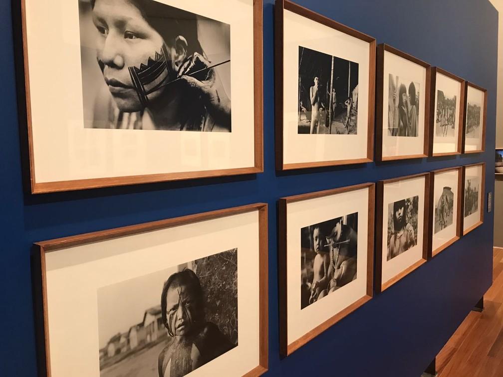 Mostra exibe trabalho sobre cultura indígena (Foto: Matheus Rodrigues/ G1)
