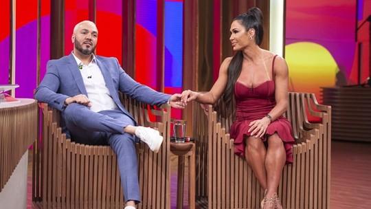 No 'Conversa com Bial', Belo repassa carreira, e Gracyanne Barbosa confirma comer até 35 ovos por dia
