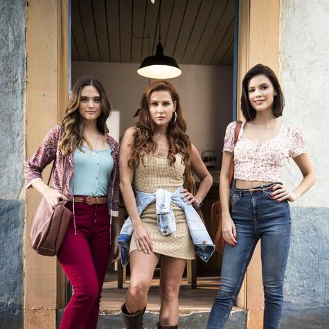 Juliana Paiva, Deborah Secco e Vitória Strada, as protagonistas de 'Salve-se quem puder' (Foto: João Miguel Júnior/TV Globo)