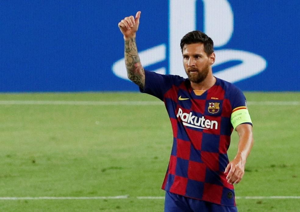 Messi confirmou permanência no Barcelona nesta sexta-feira — Foto: Reuters