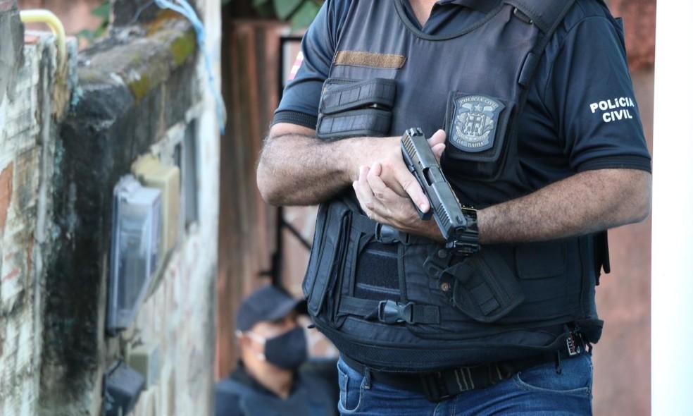 Polícia Civil da Bahia atuou na prisão de homens que estava na Bahia e sequestraram empresário em São Paulo — Foto: Divulgação/SSP-BA