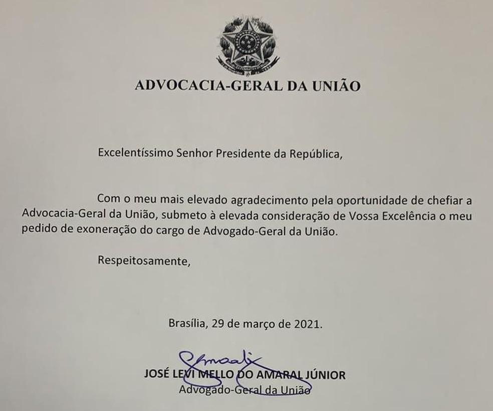 Ministro da Advocacia-Geral da União, José Levi, pede exoneração do cargo — Foto: Reprodução