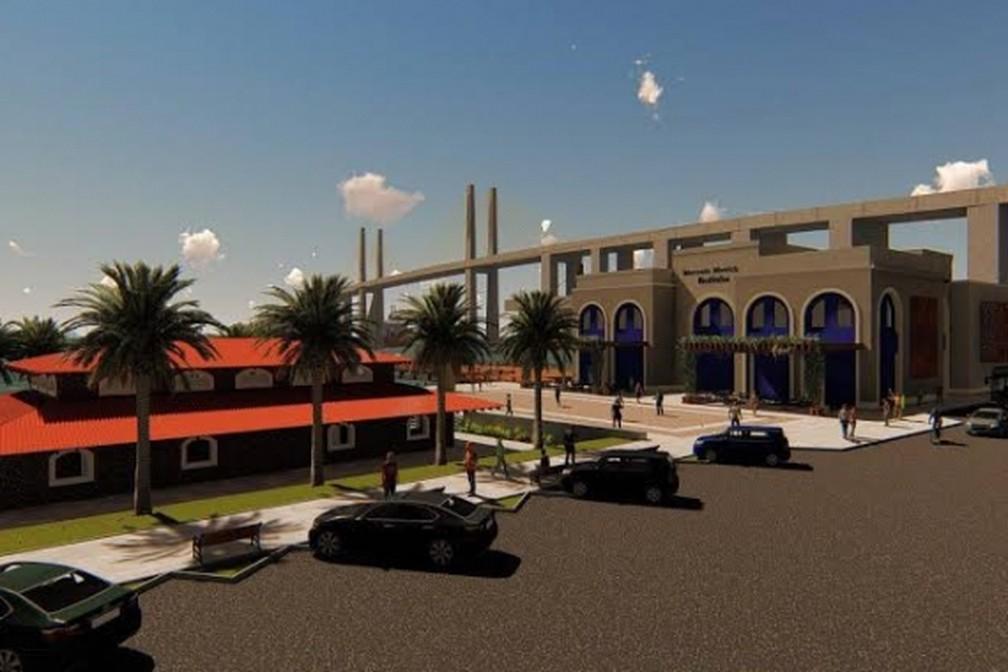 Projeto de como deverá ficar o Mercado da Redinha e o entorno, na Zona Norte de Natal — Foto: Prefeitura de Natal