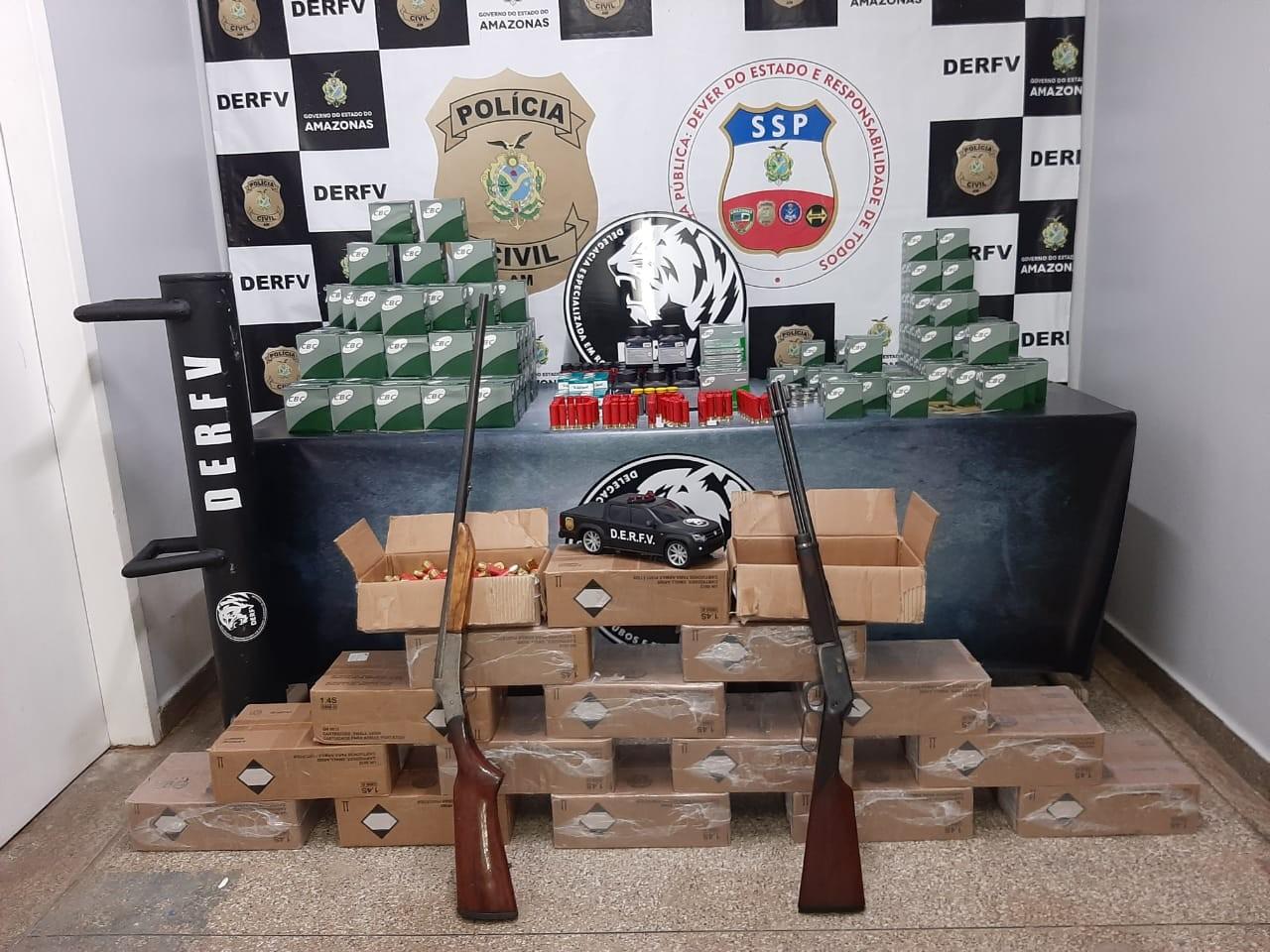 Cerca de 20 mil munições são apreendidas em Manaus e empresária é presa suspeita de contrabando