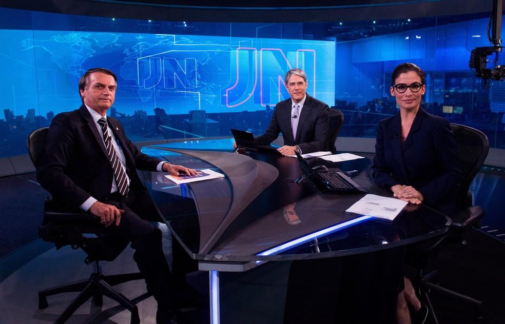 Jair Bolsonaro (PSL) em entrevista ao Jornal Nacional — Foto: João Cotta / Globo