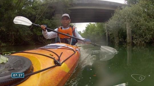 Expedição planta 300 mudas perto de nascente do Rio Jucu no ES