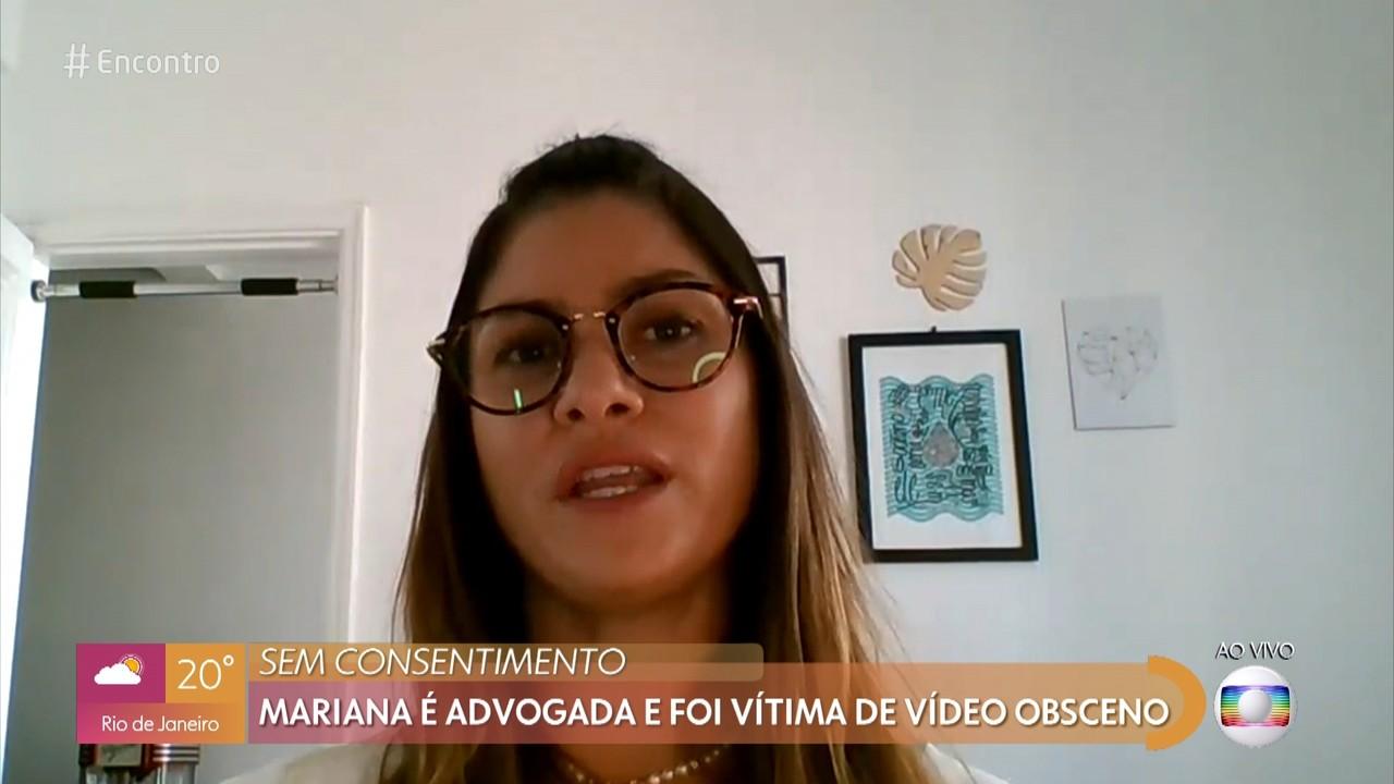 Mariana é advogada e foi vítima de vídeo obsceno