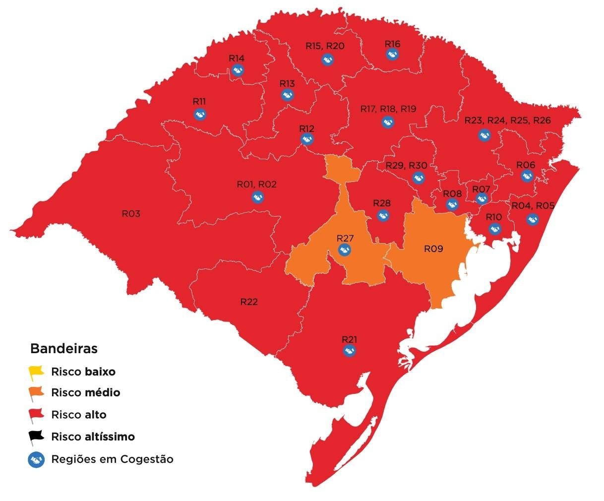 Com avanço da pandemia no RS, governo suspende cogestão e veda permanência em ruas e praias