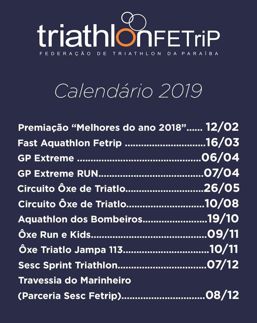 Calendario Triatlon 2019.Confira O Calendario 2019 De Provas De Triatlo Na Paraiba Pb