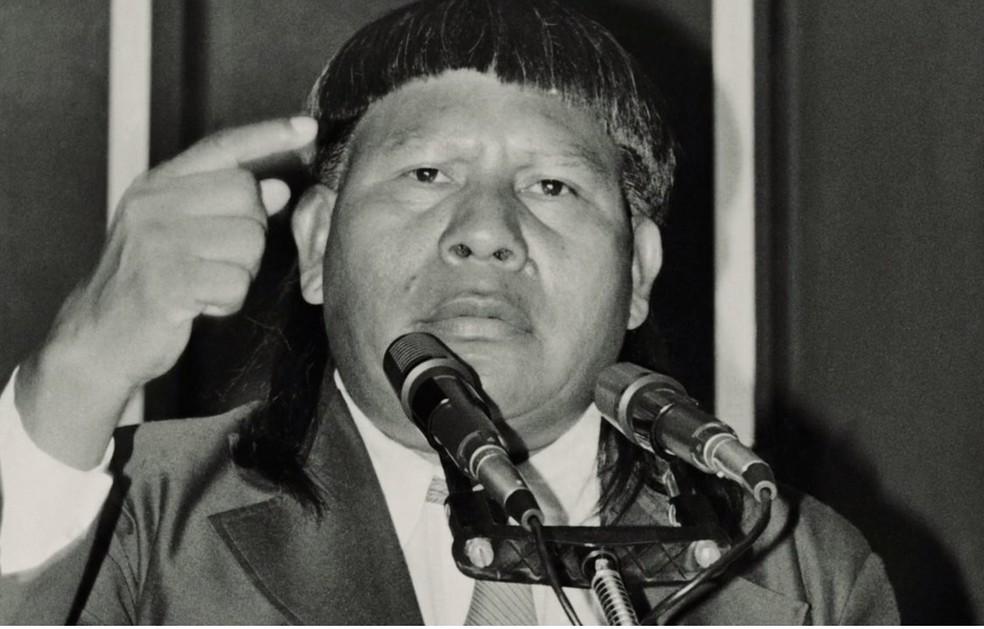Mário Juruna foi o único representante indígena de MT em toda a história — Foto: Divulgação