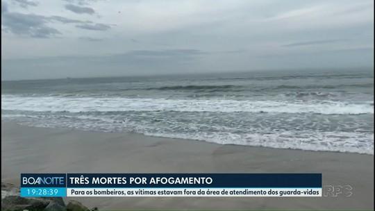 Três pessoas morrem afogadas no litoral