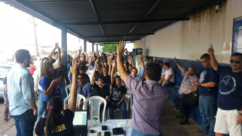 Servidores penitenciários de Mato Grosso começaram uma paralisação por três dias a partir desta sexta-feira (25) (Foto: Sindspen-MT/Assessoria)