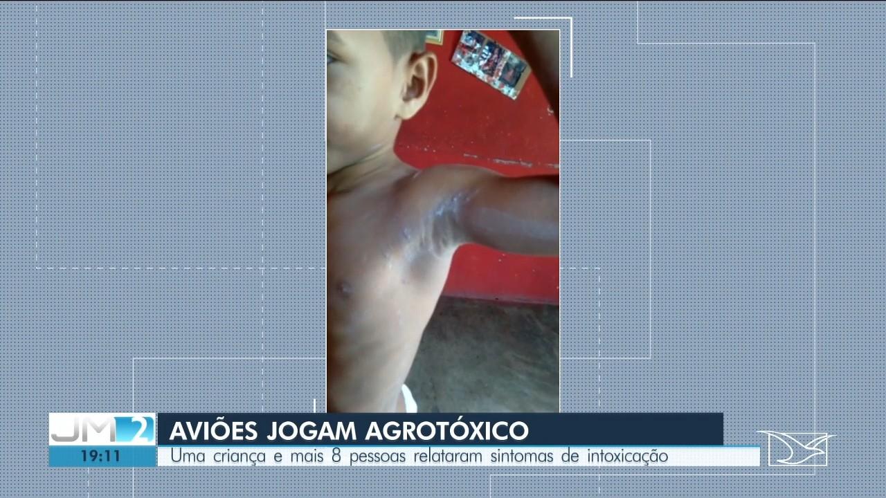 Comunidade é intoxicada por agrotóxico lançado de avião em Buriti, no Maranhão thumbnail