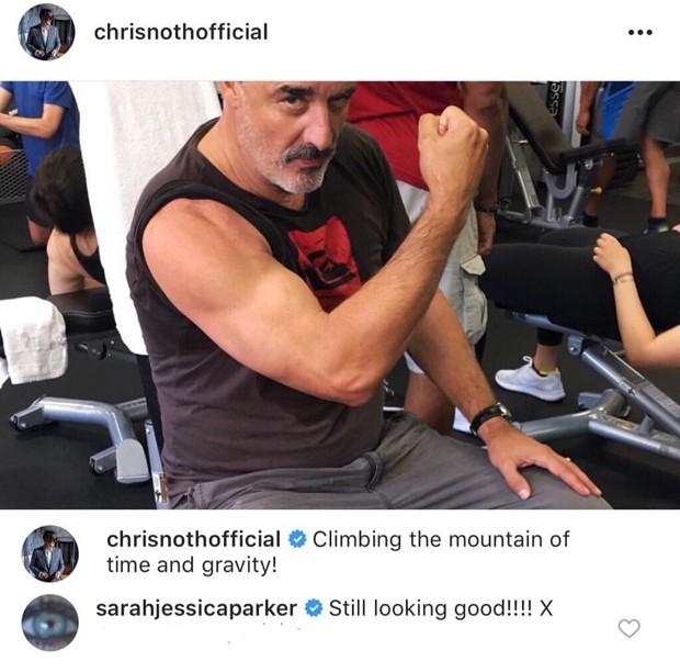 O comentário de Sarah Jessica Parker no post de Chris Noth (Foto: Reprodução Instagram)